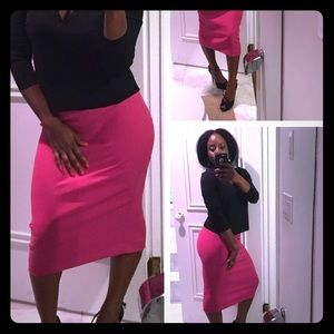 Pink straight/fitted skirt from Zara !